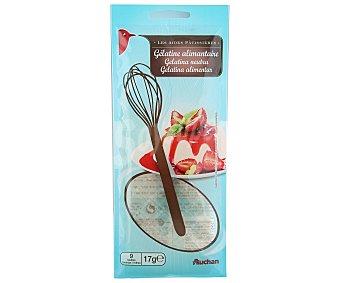 Auchan Gelatina láminas 9 unidades 17 gramos