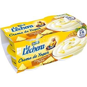 La Lechera Nestlé Crema de yogur con trozos de piña Nestlé Pack de 4x125 g