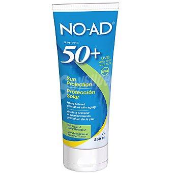 NO-AD Protección solar FP-50 ayuda a prevenir el envejecimiento prematuro de la piel resistente al agua y al sudor Tubo 250 ml