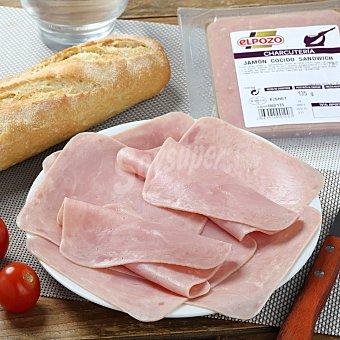 ElPozo Jamón cocido para sandwich Envase de 135 g