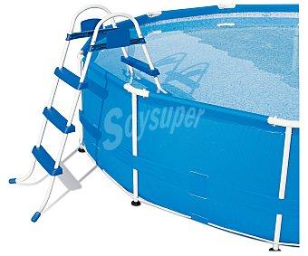 BESTWAY Escalera para piscinas de 107 centímetros de alto de metal galvanizado y plástico de alta calidad resistente a la corrosión Escalera 107 cm