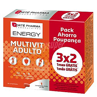 Forte Pharma Multivitamínico para adultos 84 uds