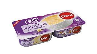 Dhul Natilla de vainilla sin lactosa 2 unidades de 125 g