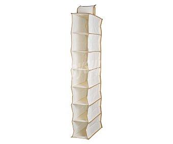 Home Orgnizador de tela color beige con 7 repisas para armario, 98 centímetros de alto 1 unidad