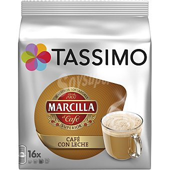 TASSIMO Café con leche Saimaza 16 capsulas