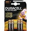 Pila alcalina Pack 4 unid LR06 DURACELL Plus