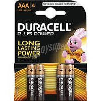 LR06 DURACELL Plus Pila alcalina Pack 4 unid