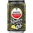 Amstel 0,0 cerveza tostada sin alcohol con zumo natural de limón Lata 33 cl Radler