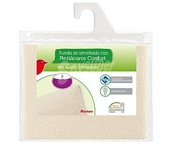Auchan Funda de almohada protectora elástica antiácaros, 70 centímetros 1 Unidad