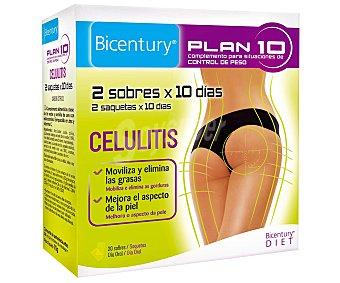 Bicentury Plan 10 celulitis complemento para control de peso estuche 70 g Estuche 70 g