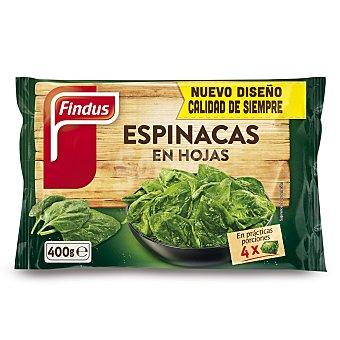 Findus Espinacas en hojas Bolsa 400 g