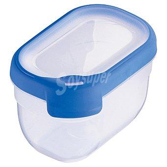 Curver Hermético rectangular tapa transparente y azul 0,75 l 0,75 l