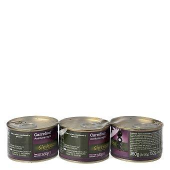Carrefour Aceituna Negra deshuesada  Pack 3x50 g