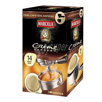 Marcilla Café Molido Especial Extrafino Créme Express Monodosis