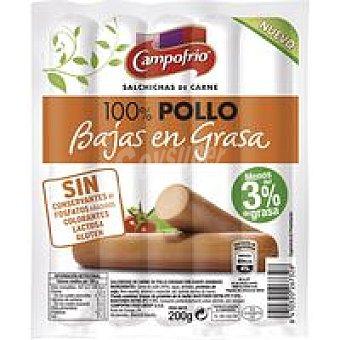 Campofrío Salchicha 100% pollo baja en grasa Sobre 200 g
