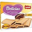 Delicias de crema rellenas de cacao sin gluten Estuche 150 g Sanavi
