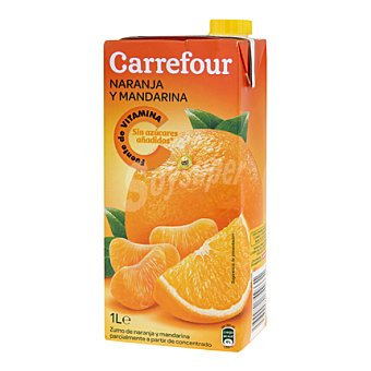 Carrefour Zumo naranja y mandarina 1 l