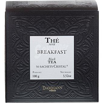 Dammann Té negro Berakfast mezcla de Ceilan e India 50 sobres estuche 100 g estuche 100 g