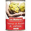 Corazones de alcachofa al natural neto escurrido 4-6 piezas Lata 240 g Los Monteros
