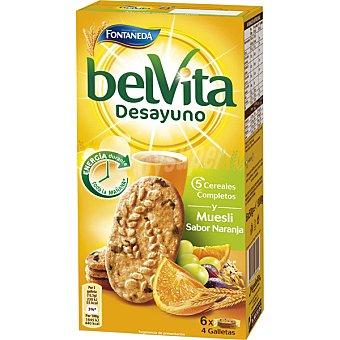 Fontaneda Belvita Desayuno 5 Cereales Completos y Muesli Sabor Naranja Caja de 300 g