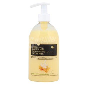 Carrefour Jabón de manos con leche y miel todo tipo de pieles 500 ml