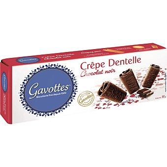 Galletas bañadas de chocolate negro