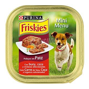Friskies Purina Mini Menú de buey-zanahoria Tarrina 150 g