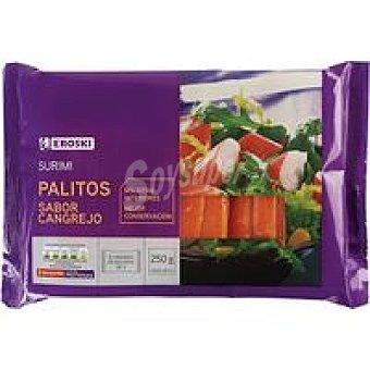 Eroski Palitos de surimi Bandeja 250 g