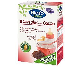 Hero Baby Papilla de cereales con cacao Paquete 500 g