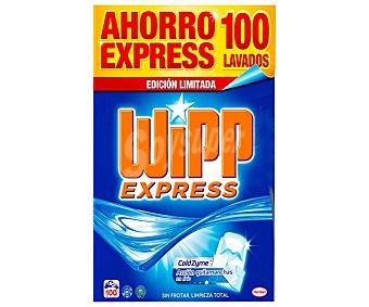 Wipp Express Detergente en polvo con acción quitamanchas en frío 100 lavados