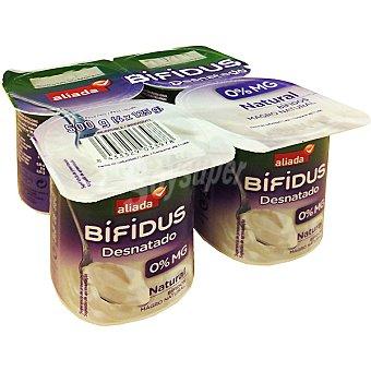 Aliada Yogur bífidus desnatado natural Pack 4 unidades 125 g
