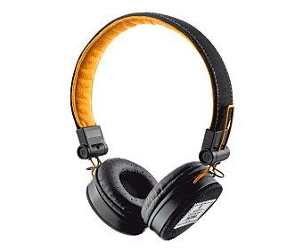 TRUST FYBER Auriculares tipo casco Negro/naranja, plegables, mando a distancia, micrófono, cable desmontable, conexión Jack 3,5mm. 1 unidad