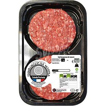 HAMBURGUESA NOSTRA Hamburguesas con carne de ternera Raza Nostra y cebolla pochada 2 unidades 2 unidades