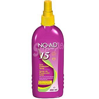NO-AD Spray protector solar FP-15 ayuda a prevenir el envejecimiento prematuro de la piel resistente al agua Y AL sudor Spray 250 ml