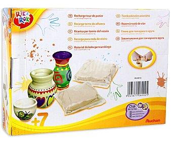 Rik&Rok Auchan Recambio de Pasta de Moldear para Torno de Alfarero 1 Kilogramo