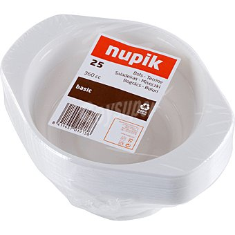 Nupik Bol ensaladera paquete 25 unidades 36 cl