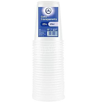 Condis Vasos transparentes plástico 25 cl 25 unidades