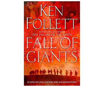 PAN BOOKS Fall of giants, KEN follet, libro de bolsillo. Género: libros en inglés. Editorial Pan Books.