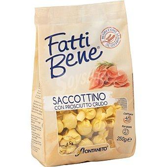 FONTANETO Pasta fresca saccottino con prosciutto Bolsa 250 g