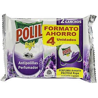 Polil Raid Colgador antipolillas lavanda Envase 4 unidades