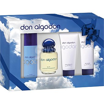Don Algodón eau de toilette femenina + desodorante spray 200 ml + body lotion tubo 100 ml + gel de baño tubo 100 ml Spray 100 ml
