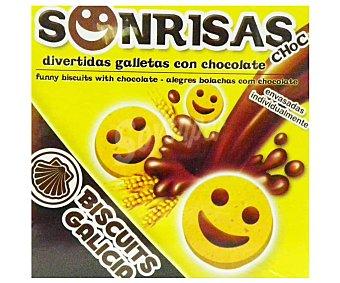 Biscuits Galicia Galletas de chocolate con forma de caras 200 gr