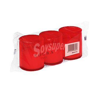 Roura Velote rojo pequeño Pack 3 u