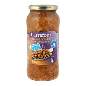 Carrefour Lentejas bajas en sal 400 g