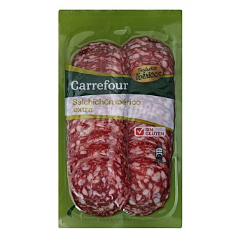 Carrefour Salchichón Ibérico en lonchas - Sin Gluten 100 g