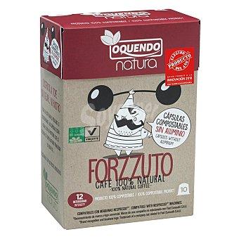 Nespresso Café forzzuto en cápsulas Oquendo compatible con 10 ud