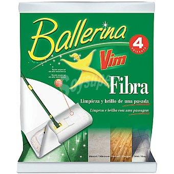 Ballerina Fibra para mopas 30-45 cm Paquete 4 unidades