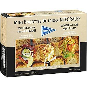 Hipercor Mini biscotes integrales de trigo Estuche 120 g