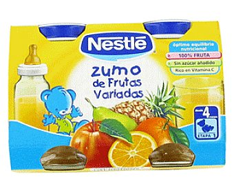 Nestlé Zumo de frutas variadas Pack de 2x125 ml