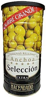 Hacendado Aceituna manzanilla con hueso sabor anchoa (calibre grande) Lata 1460 g escurrido